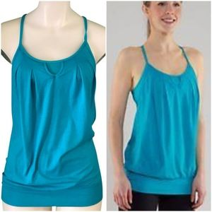 Lululemon Let it Loose Tank Top Surge Teal sz 8